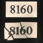 Striking Stone Address Tiles