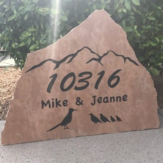 Striking Stone Address Signs